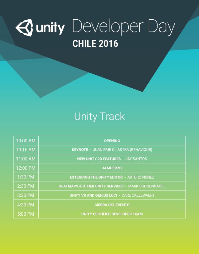 Horario Unity Track