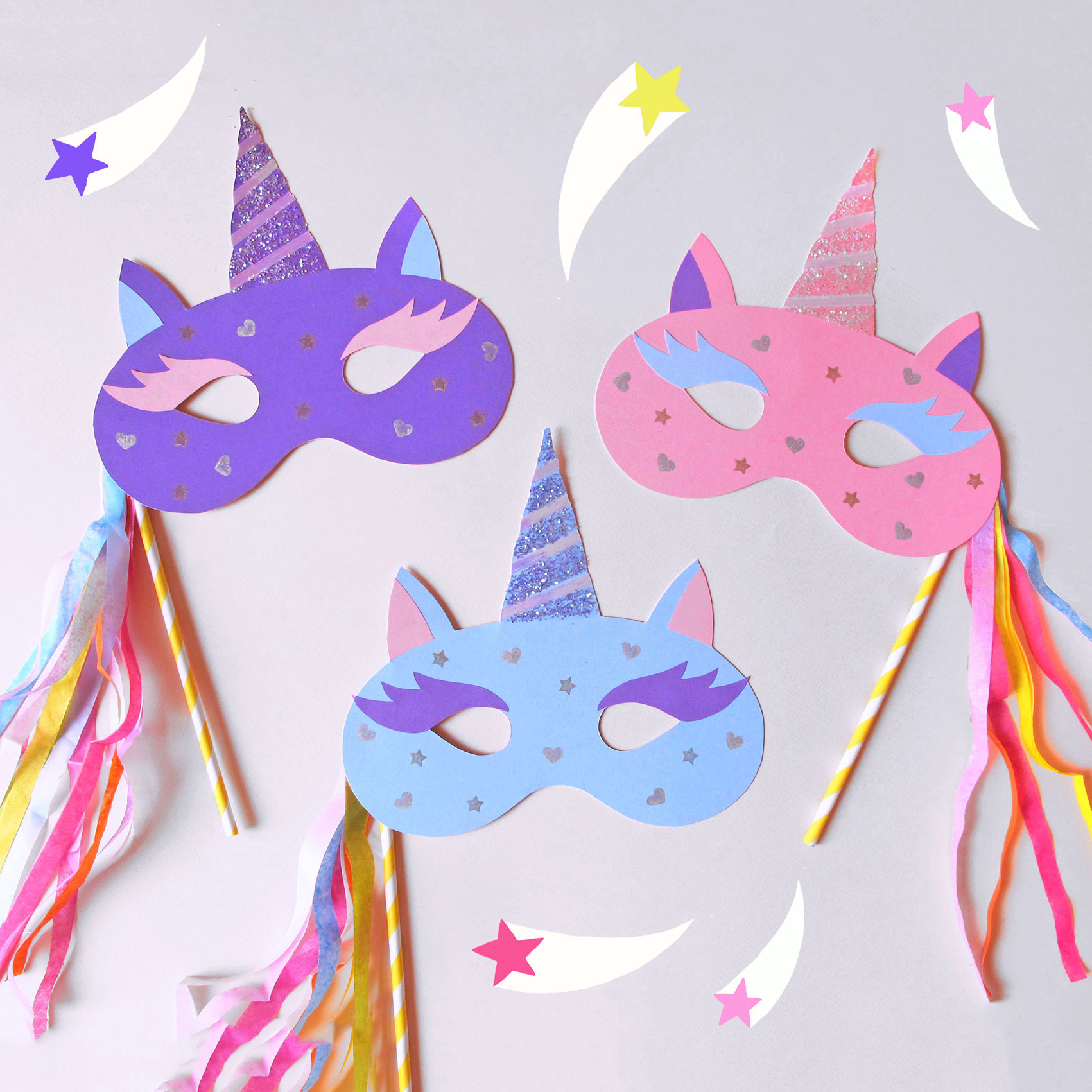 Kids craft unicorn masks buchanan street glasgow for Unicorn crafts for kids
