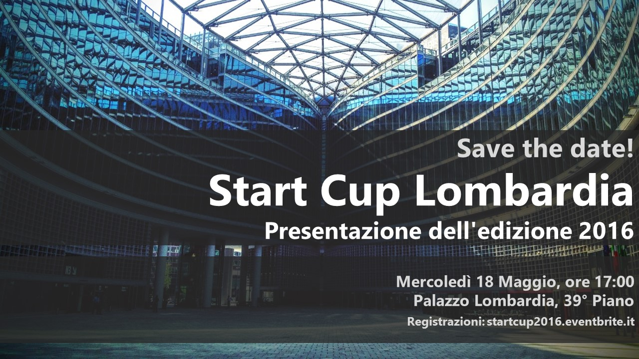 StartCup Lombardia 2016