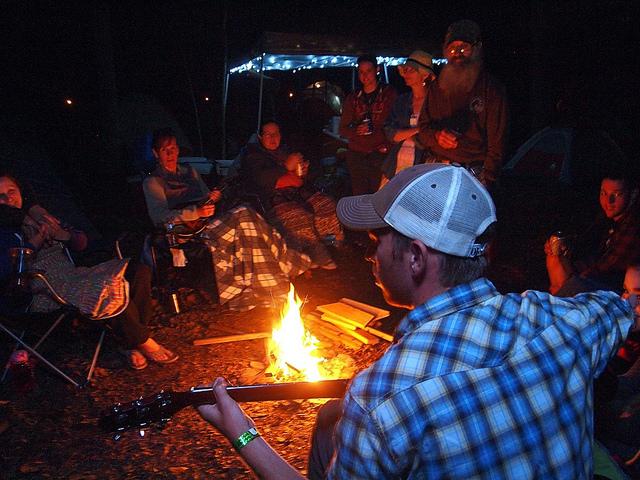 Campfire at The Heron