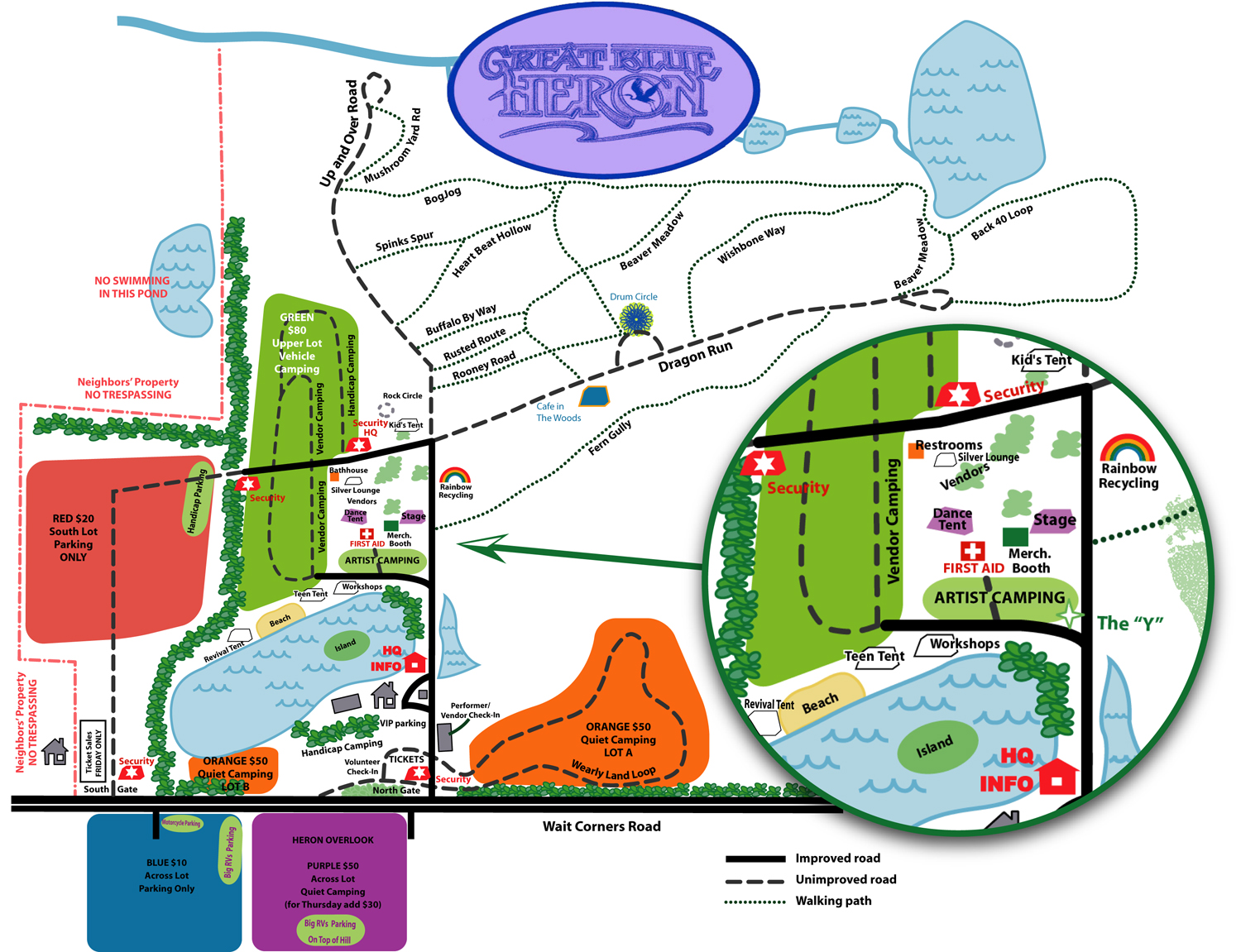 Blue Heron Music Festival Site Map