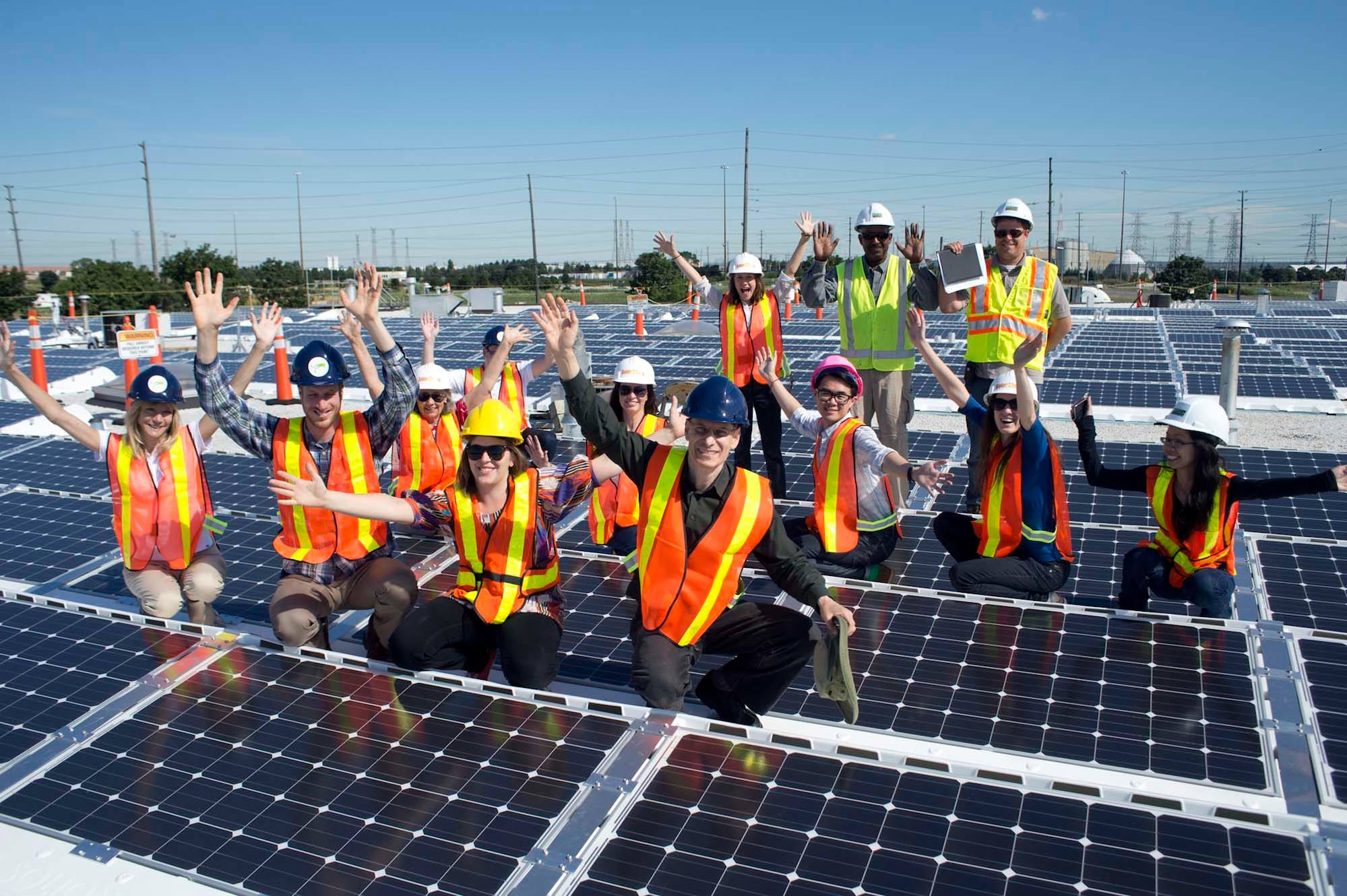 SolarShare members on rooftop