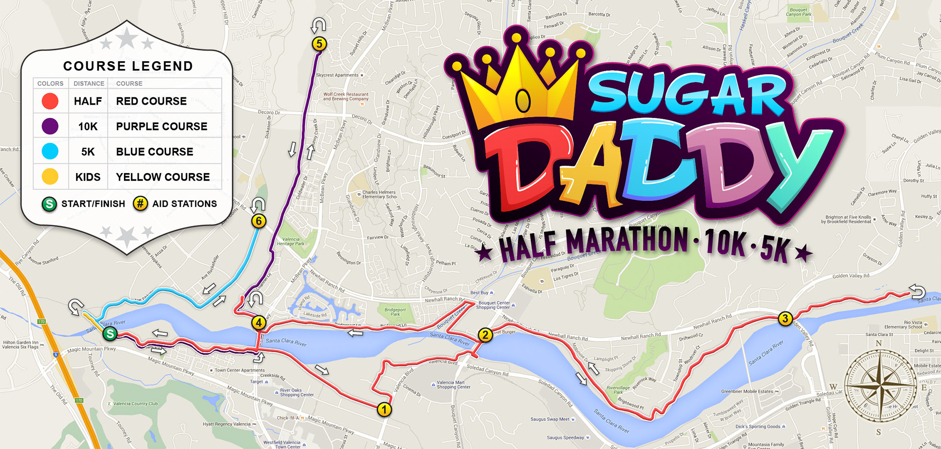Sugar Daddy Course Map