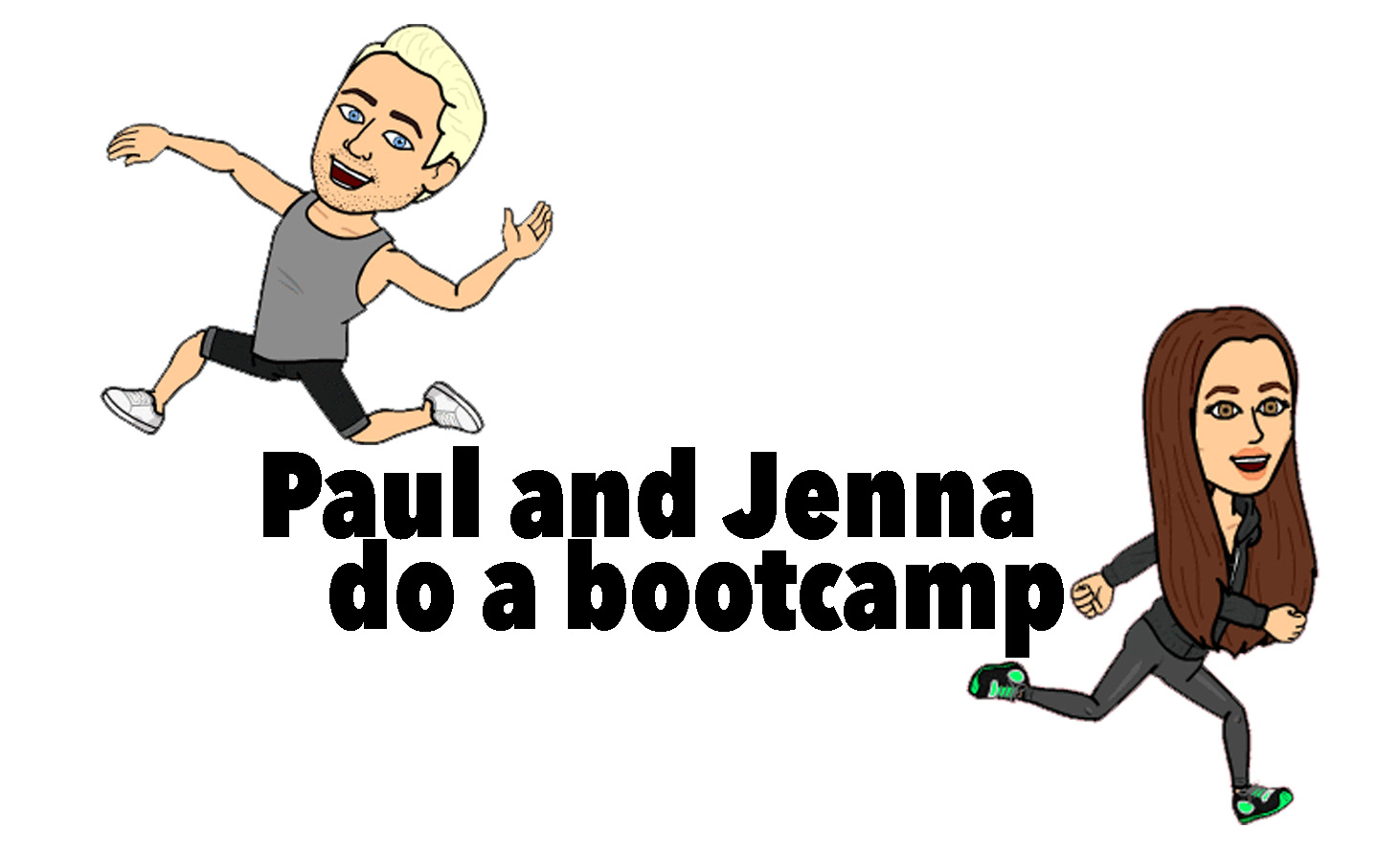 Paul and Jenna do a bootcamp logo