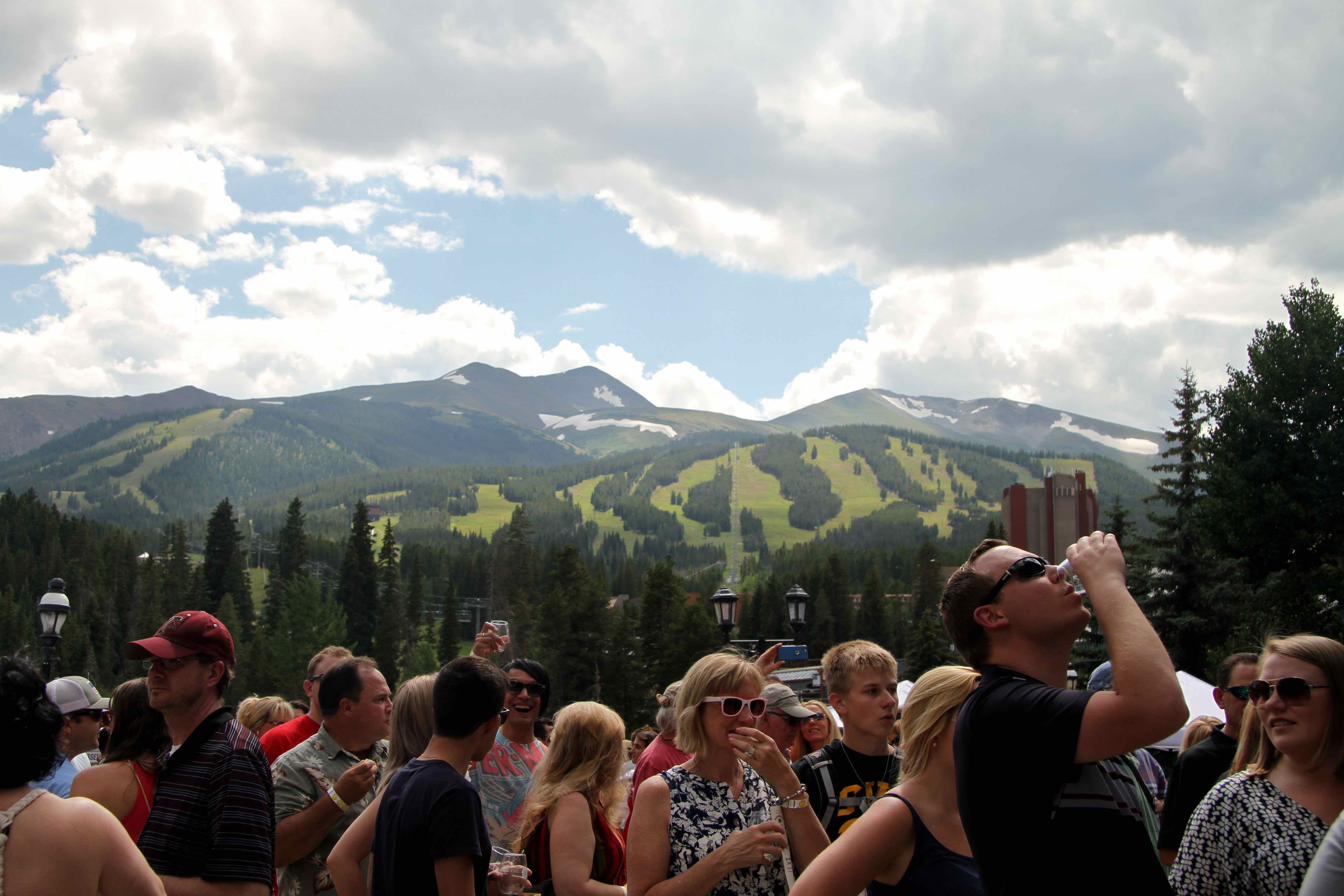 The beauty of the Breckenridge Food and Wine Festival...