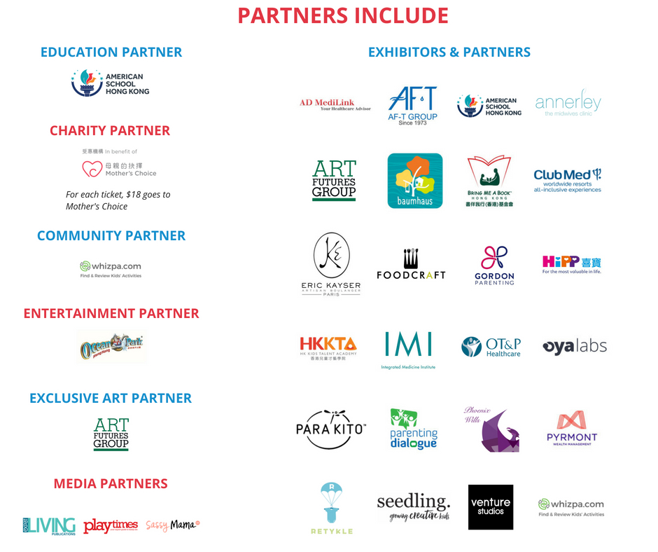Kids Health & Parenting Event 2018 Partners