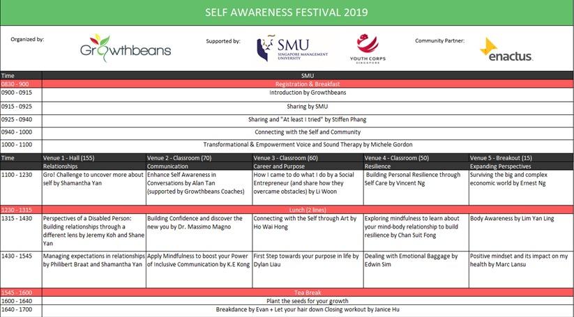 Self Awareness Festival 2019 Programme