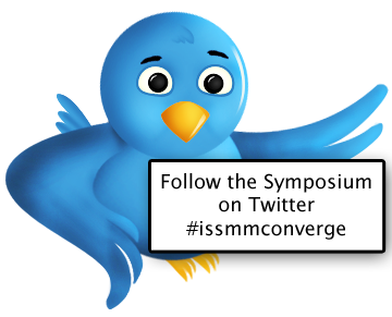 Twitter bird: Follow the conference on twitter at #issmmconverge