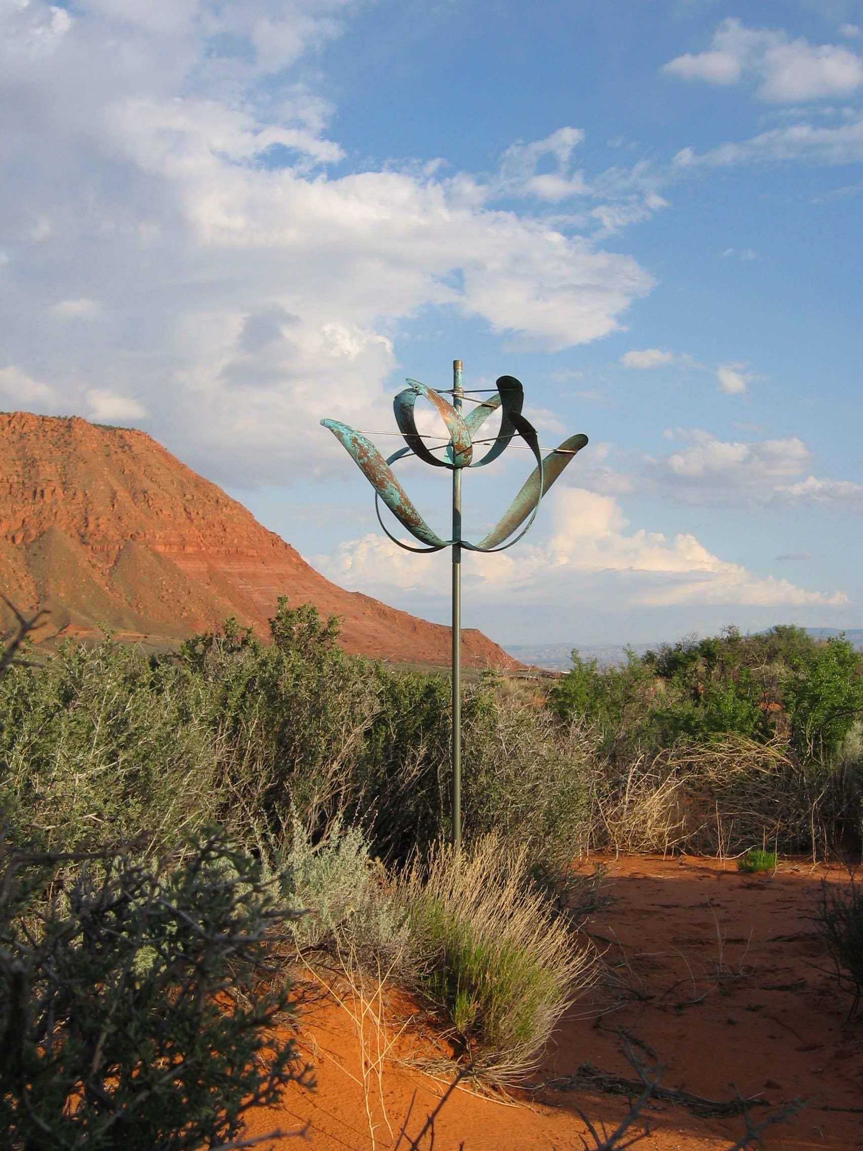 66H x 30W Copper Wind Sculpture