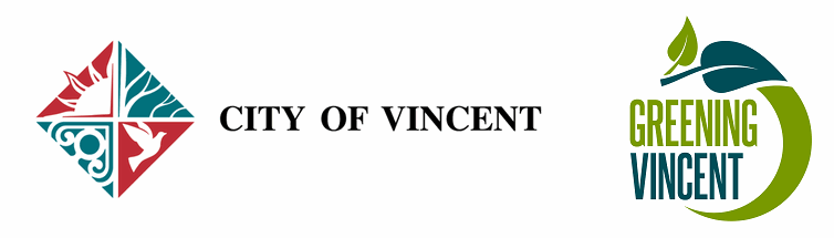 Logo of City of Vincent and Greening Vincent