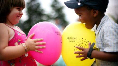 Refugee Week Children with balloons