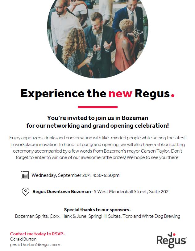 Regus Bozeman Community Networking Event