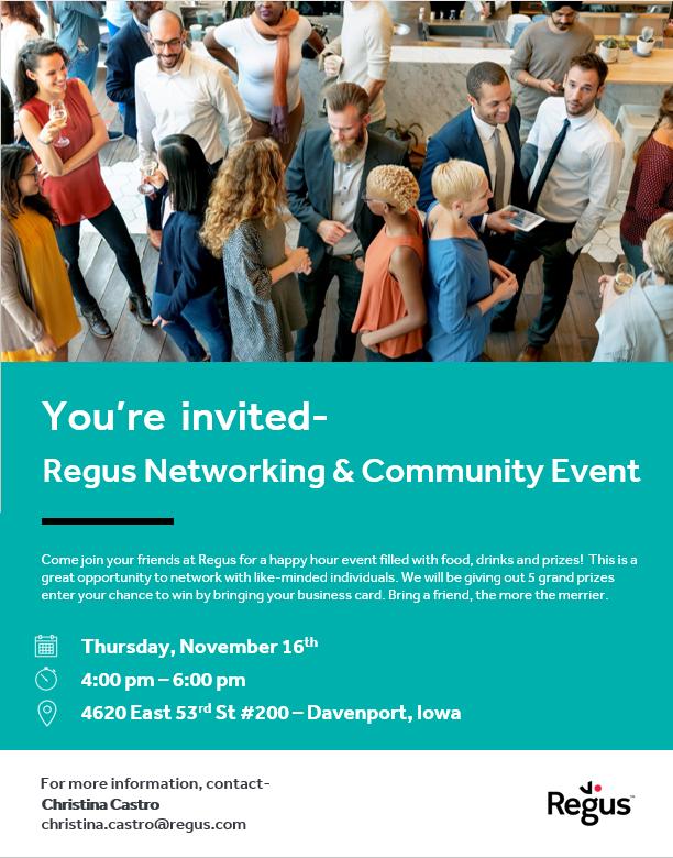 Regus Davenport Community Networking Event