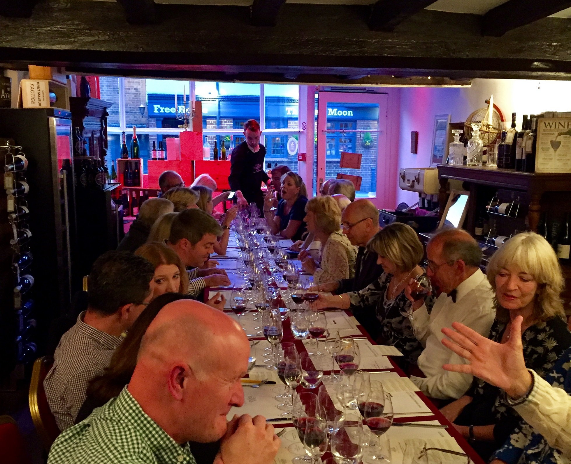 one of out Wine Tastings at Cellar Wines