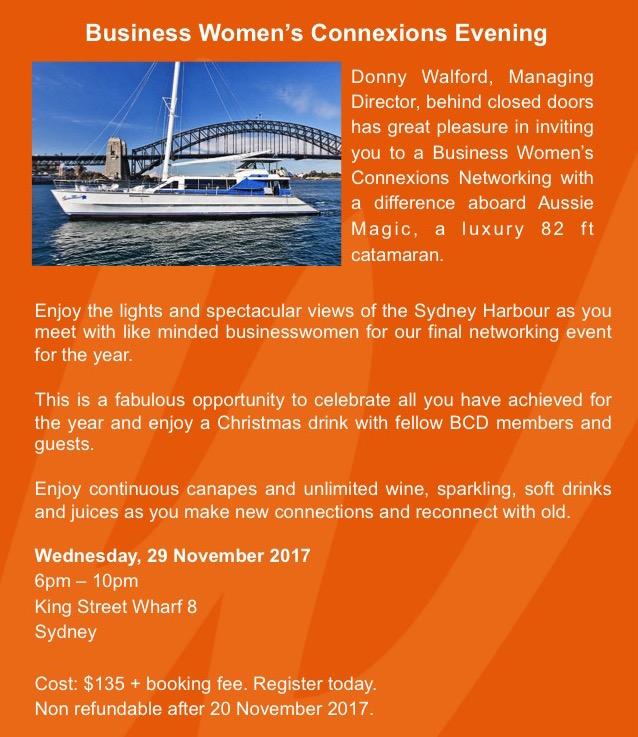 Sydney Connexions November 2017