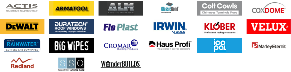 Brands attending the roofing trade show