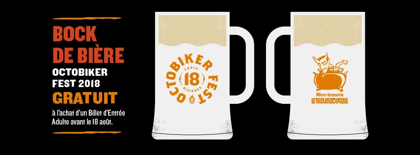 Bock de bière gratuit à l'achat d'un Billet d'Entrée Adulte avant 23h30 le 18 août 2018.