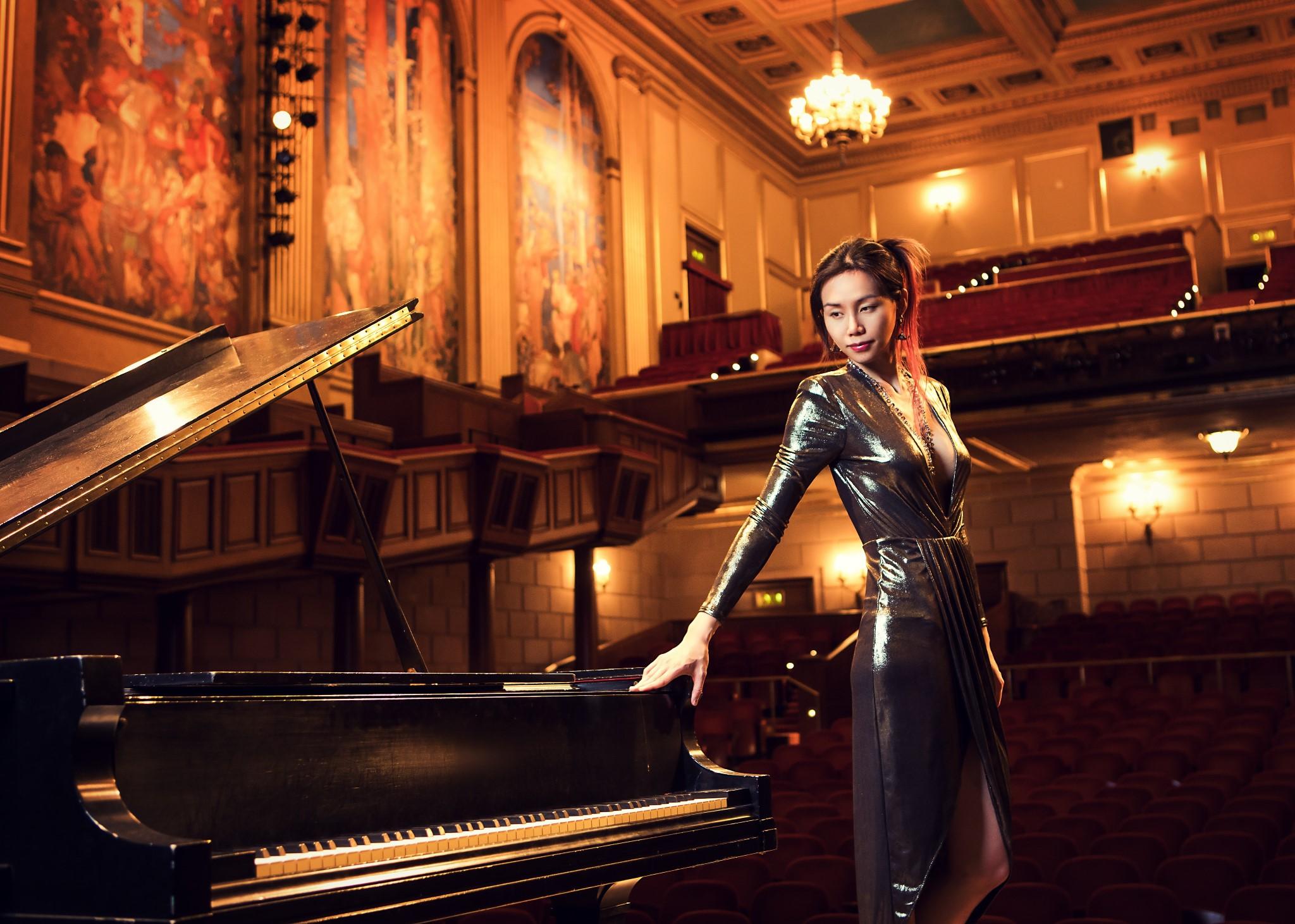 Serene, pianist