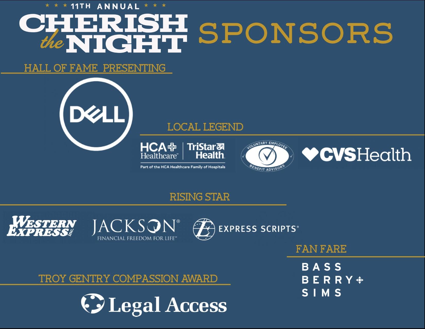 Cherish Sponsors