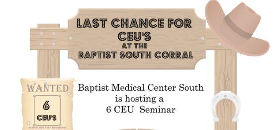 Last Call for CEUs