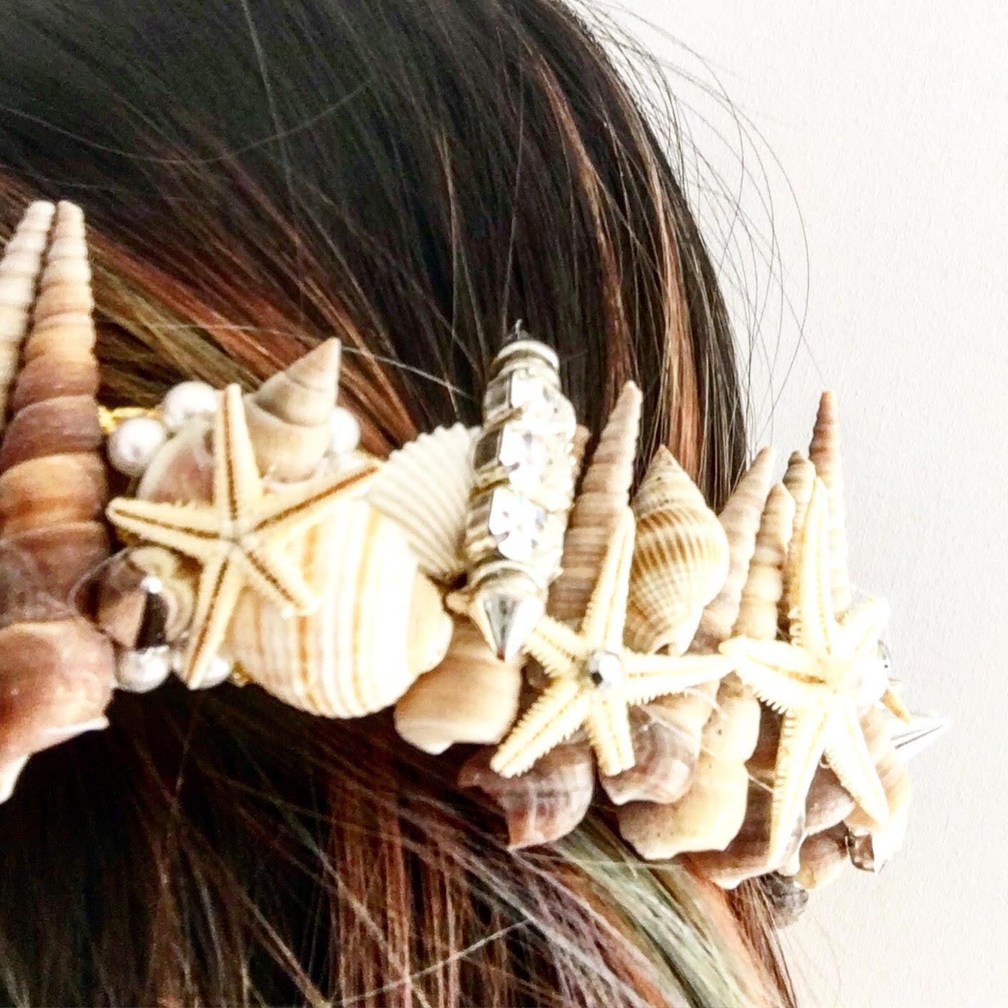 Handmade mermaid crown