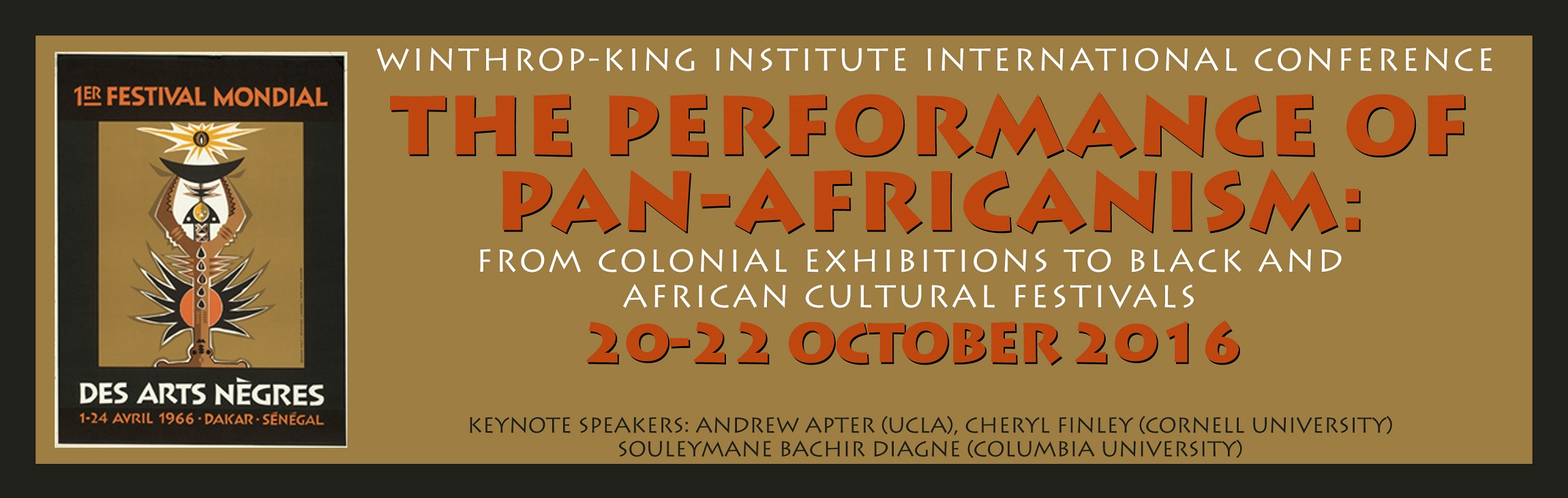 The Performance of Pan-Africanism - Conference Banner