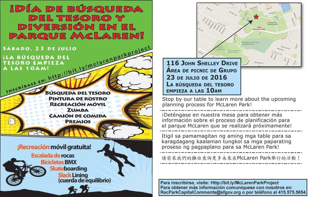 Event flier in Spanish
