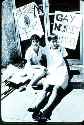 Lesbian Midwives and Gay Nurses Alliance, San Francisco. Amber Hollibaugh Collection, 1994. From the GLBT Historical Society Archives.