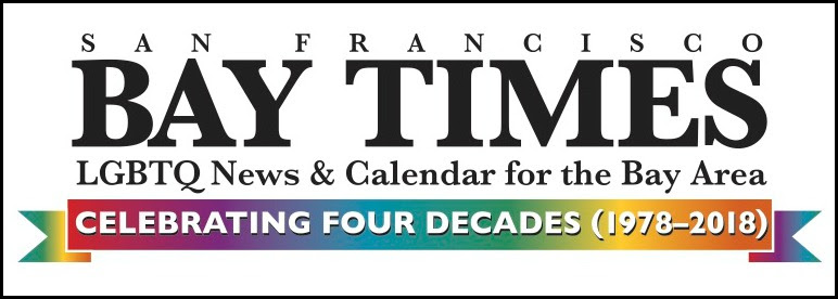Fortieth anniversary nameplate of the San Francisco Bay Times (2018).