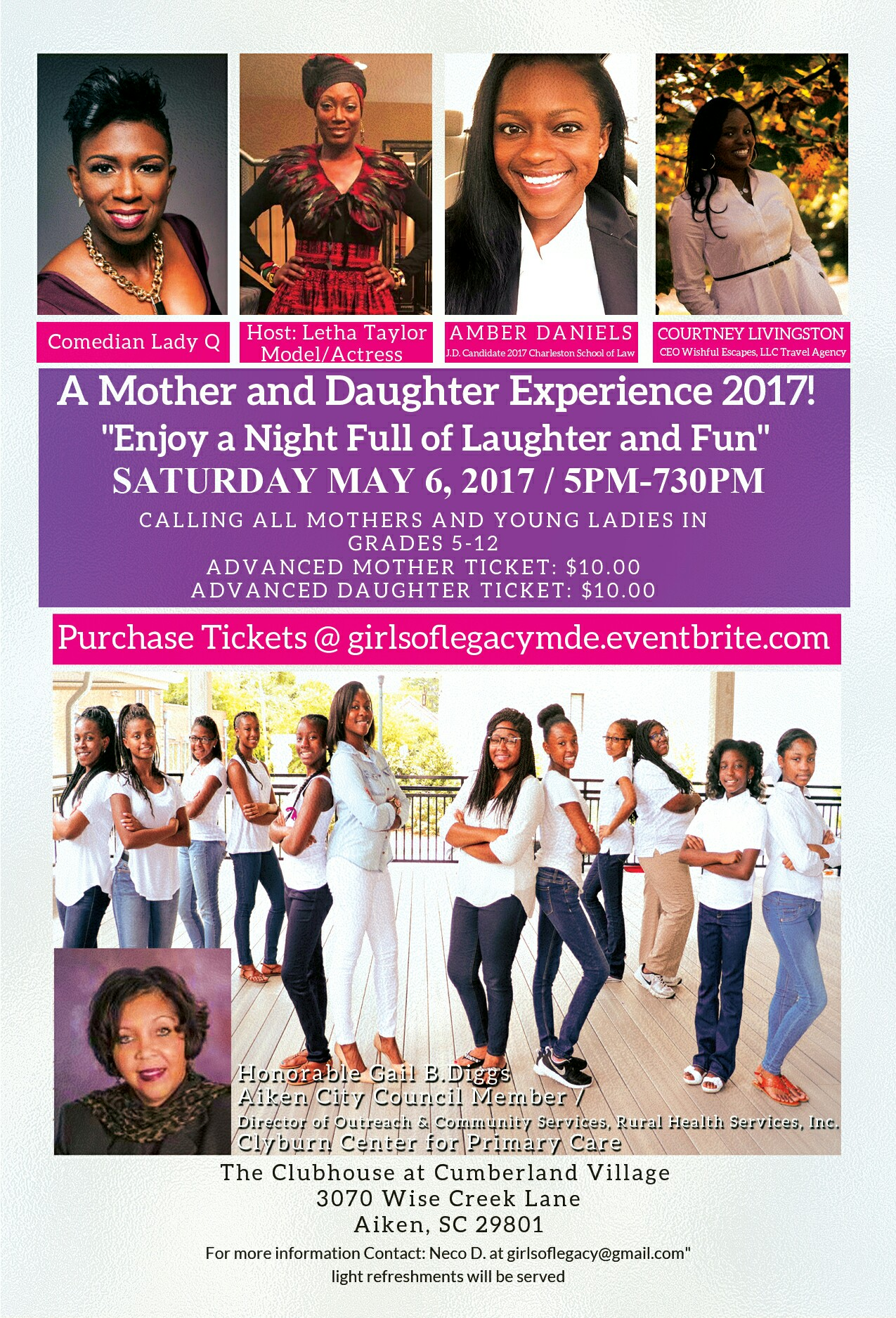 Mother and Daughter Experience 2017!