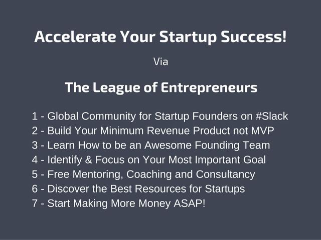 Join the League of Entrepreneurs on Slack