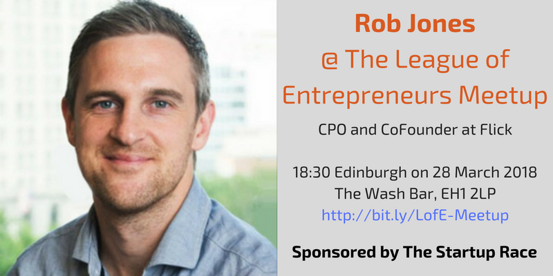 Our guest speaker at The League of Entrepreneurs in Edinburgh, Rob