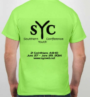 SYC 2014 T-shirt Back