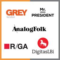 Grey, Mr President, AnalogFolk, R/GA, Publicis LBi