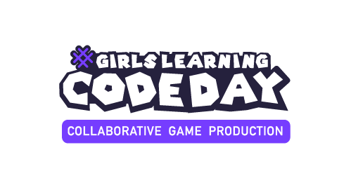 Girls Learning Code Day. Collaborative Game Production.