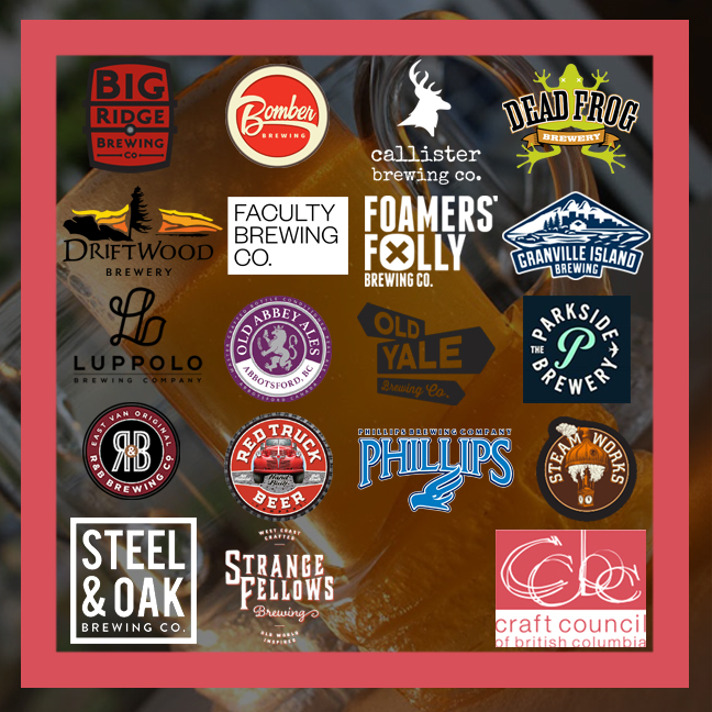 Participating breweries' logos