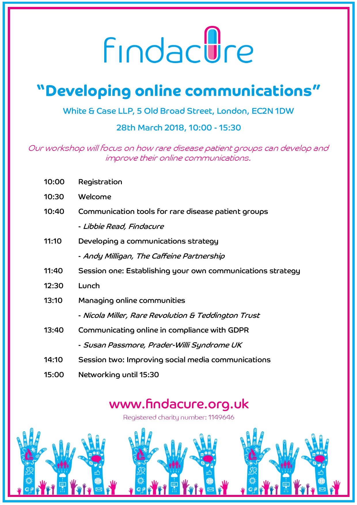 Schedule for Developing Online Communications Workshop