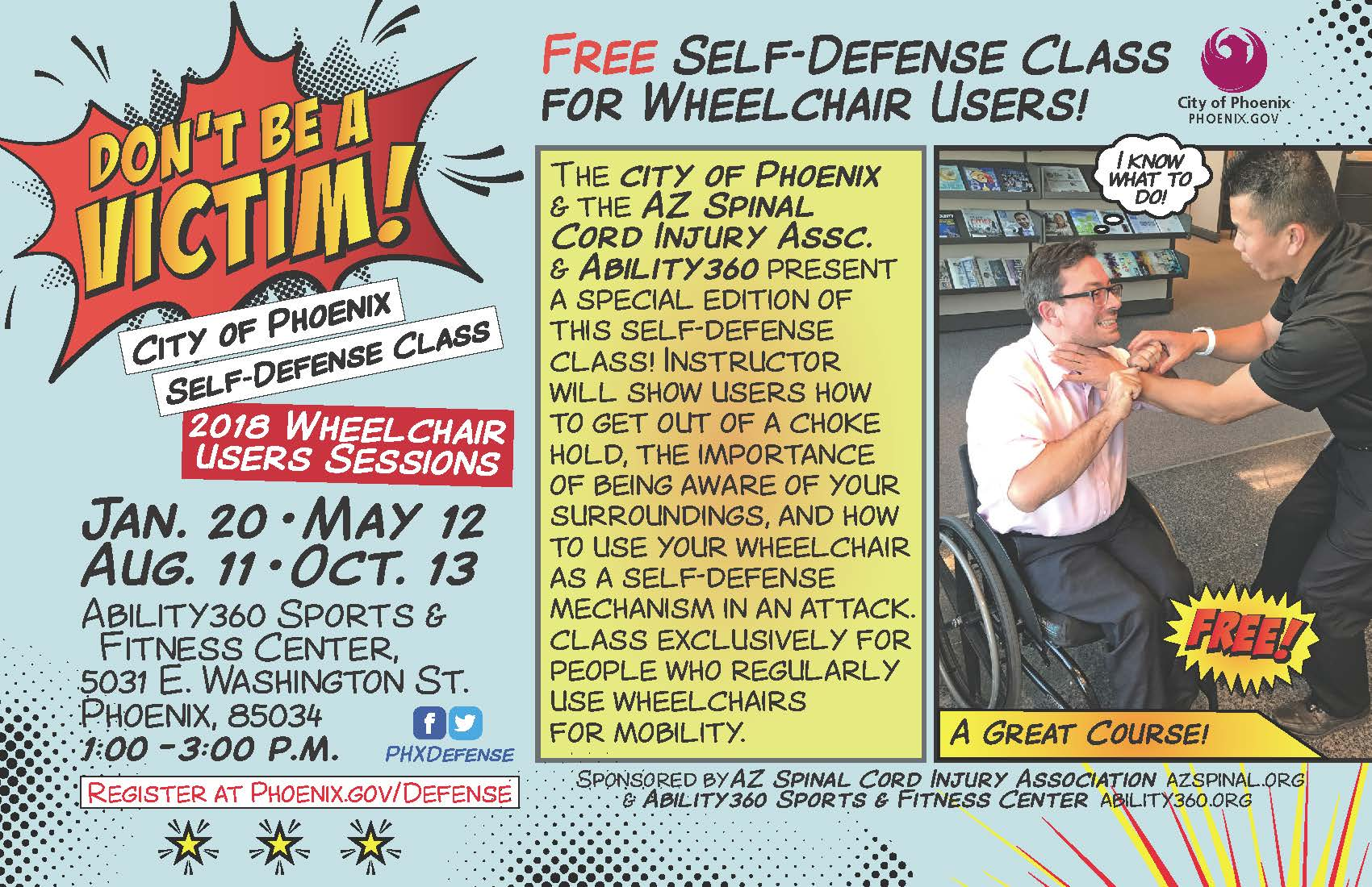 Self Defense for Wheelchair Users