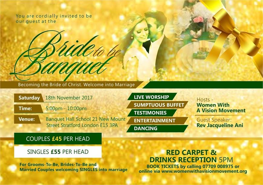 bride to be banquet flyer
