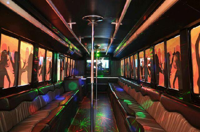 VIP PARTY BUS | 2 STRIPPER POLES | FREE CHAMPAGNE | INCLUDES VIP ADMISSION