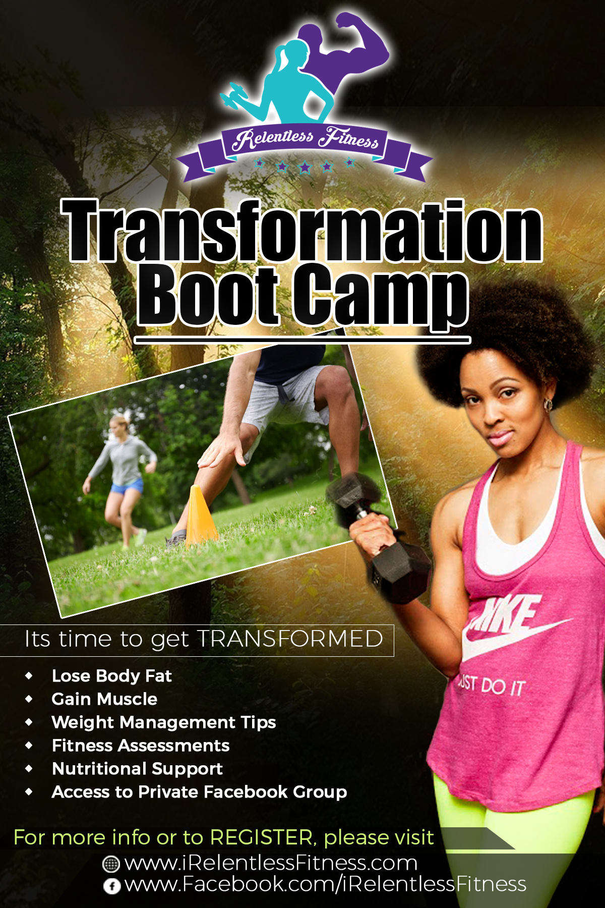 Transformation Boot Camp Flyer