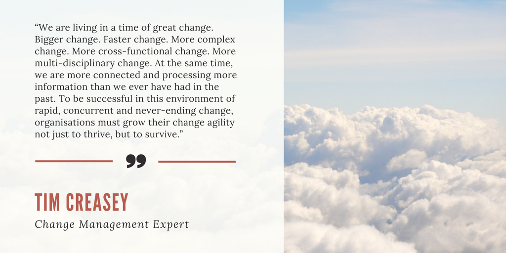Creasey quote about change
