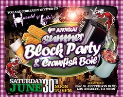 4th Annual Harold & Belle's Summer Block Party & Crawfish...