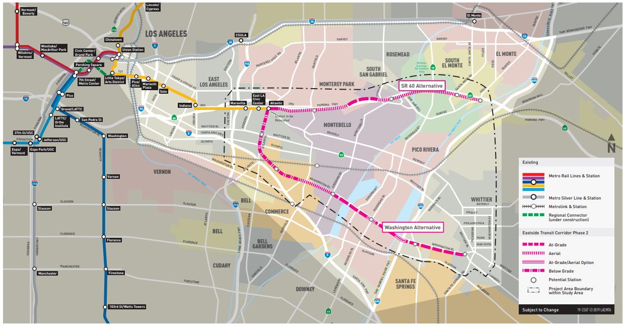 Logo Metro Eastside Gold Line Map