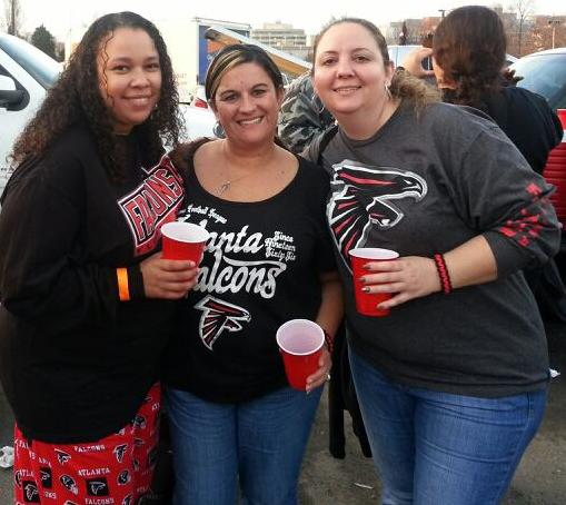 falcons vs panthers party bus and tailgate