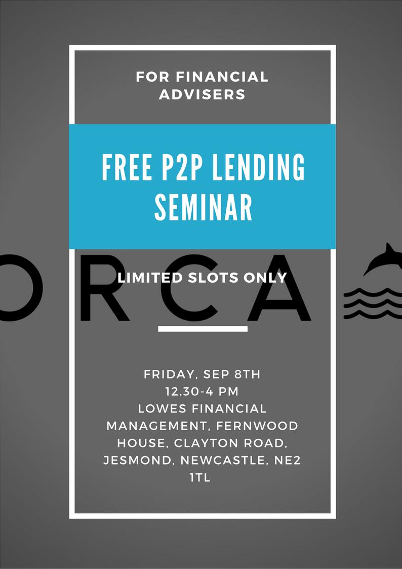 Poster description of Orca P2P seminar 8th Sep