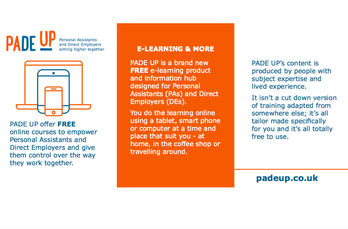PADE UP flyer - description of what PADE UP is