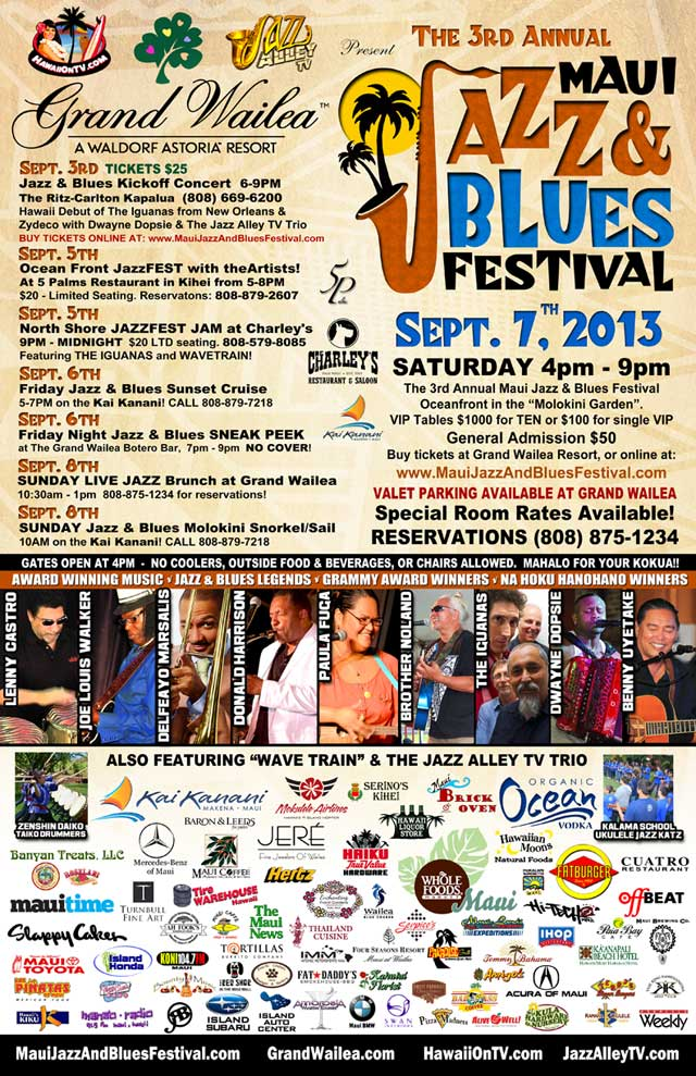 Maui Jazz and Blues Festival 2013