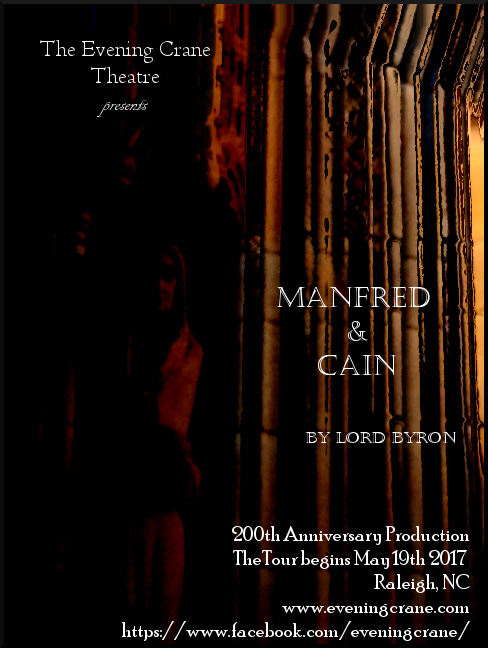 Manfred & Cain. May 19th at Burning Coal Theatre. Raleigh NC
