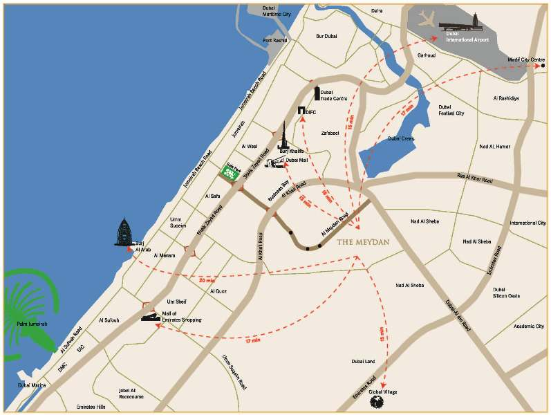 Meydan Location Map